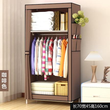 簡易衣櫃布衣櫃兒童宿舍出租房用組裝小櫃子臥室家用衣櫥現代簡約 「免運」