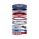 Nike 髮帶 Mixed Ponytail Holder Hairband 紅 白 藍 男女款 頭帶 運動休閒 【ACS】 NJNK892-5OS