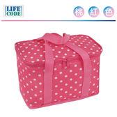 LIFECODE《小丸子》保冰袋/小冰包/便當袋(6L)-桃紅