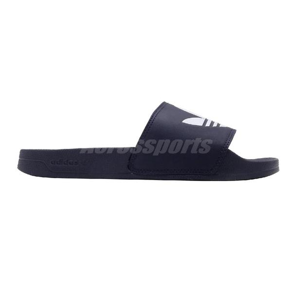 adidas 涼拖鞋 Adilette Lite 藍 白 男鞋 女鞋 涼鞋 運動拖鞋 【ACS】 FU8299