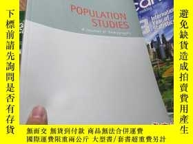二手書博民逛書店population罕見studies a journal of