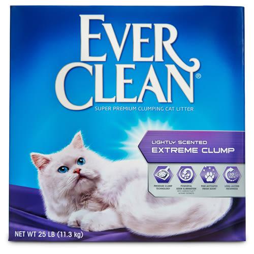【寵物王國】EVER CLEAN藍鑽-【綠標】清香結塊貓砂25磅(11.3kg)【單一結帳免運】