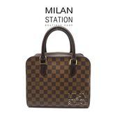 【台中米蘭站】LV  咖啡棋盤格 夾層手提包
