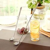 Lohogo不鏽鋼加長柄攪拌勺-26cm/酷冰杯專用加長柄湯匙/韓式咖啡勺/霜淇淋勺 吃珍珠專用湯匙