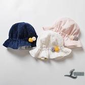 寶寶帽子嬰兒漁夫帽夏季薄款遮陽防曬太陽帽【邻家小鎮】