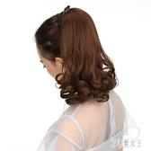 馬尾女長卷髮大波浪中長假髮短款梨花馬尾辮綁帶式隱形自然假馬尾 LR5399【艾菲爾女王】