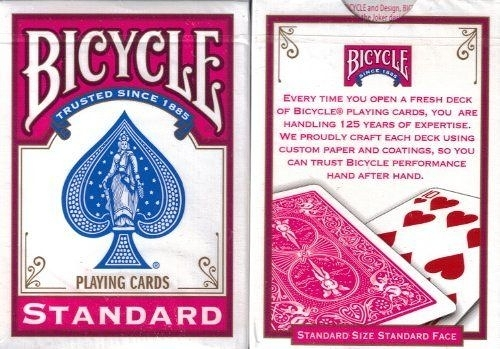 【USPCC 撲克】Bicycle - Poker deck - Fuchsia back(桃紅)