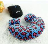 創意鼠標墊護腕辦公卡通U型手腕墊毛絨可愛女生手機座柔軟舒適 『艾麗花園』