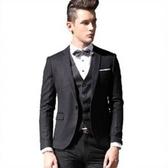 西裝套裝含西裝外套+褲子-帥氣潮流商務成套男西服6x29[巴黎精品]