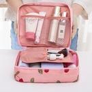 旅行收納袋 便攜化妝包大容量手拿收納袋正韓簡約小號防潑水出國旅行隨身洗漱品手提小c推薦