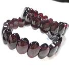 『晶鑽水晶』天然紅石榴手鍊 馬眼型 10x15mm 海底輪 血液循環 招桃花 母親節禮物 附禮盒