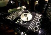 歐式簡約奢華織錦餐墊  隔熱  布藝配套桌旗【潮咖範兒】