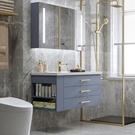 現代簡約北歐輕奢浴室櫃組合落地式洗臉洗手池洗漱台盆衛生間智慧 夢幻小鎮