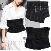 束腰裝飾配飾復古韓版休閒新款時尚布料女士襯衫裝飾寬腰封黑腰帶百分百