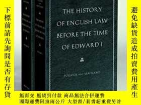 二手書博民逛書店The罕見History Of English Law Before The Time Of Edward I
