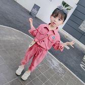 小童裝女童秋裝套裝新款韓版3歲時尚洋氣寶寶兩件時髦4兒童潮 依夏嚴選