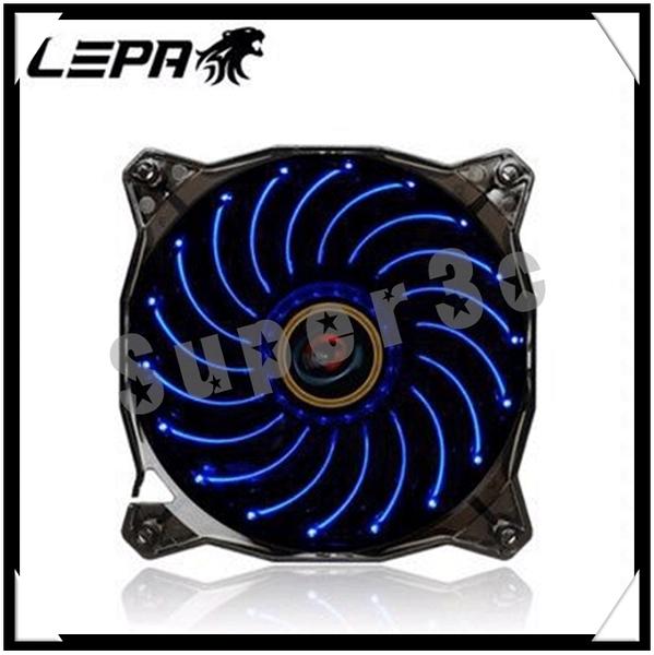 新竹【超人3C】LEAP CASINO1C 螺旋藍燈六段變化12公分風扇 高達18顆LED燈 PWM風扇控速系統