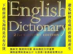 二手書博民逛書店Collins罕見English Dictionary【21st