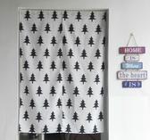 可愛時尚棉麻門簾240 廚房半簾 咖啡簾 窗幔簾 穿杆簾 風水簾 (80寬*180cm高)
