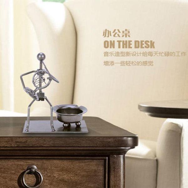 煙灰缸 復古文藝特色煙灰缸北歐藝術擺件創意個性時尚潮流酒吧搞怪煙缸鐵