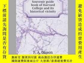 二手書博民逛書店Souvenir罕見guide book of Harvard College and its historica