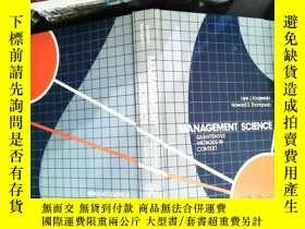 二手書博民逛書店Management罕見Science: Quantitative Methods in ContextY16