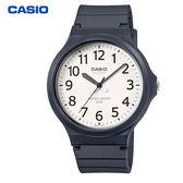 CASIO 卡西歐 大錶面數字指針膠帶錶 40mm 白 MW-240-7B 防水 學生錶 數字錶 當兵軍用錶 公司貨