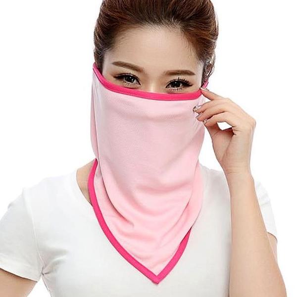 戶外騎行頭巾速干防曬護臉面罩口罩圍脖V巾獨角巾三角巾