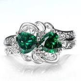 水晶戒指 925純銀-精美別緻復古優雅生日情人節禮物女飾品73lj385【時尚巴黎】