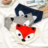 2條裝狐貍卡通女純棉中腰三角褲【洛麗的雜貨鋪】