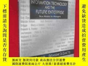 二手書博民逛書店Information罕見Technology and the Future Enterprise: New Mo
