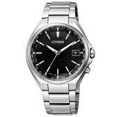 CITIZEN 極簡紳士電波光動能鈦金屬腕錶/CB1120-50E