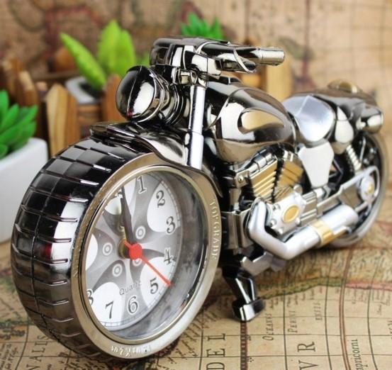 鬧鐘  摩托模型靜音定時鬧鐘創意學生現代兒童卡通床頭臥室