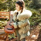 女童羽絨服中長款加厚 新款冬裝韓版中大童兒童裝洋氣寶寶外套 薇薇