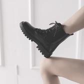 短靴 馬丁靴女英倫風秋冬新款百搭ins網紅短靴瘦瘦靴子鬆糕機車靴 海港城