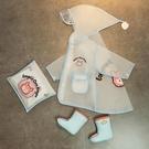 寶寶雨靴水鞋兒童雨鞋雨衣套裝防滑女童1-2歲3嬰幼兒小童小孩男童 【快速出貨】