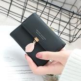 短夾 素色 樹葉 三摺 搭釦 多功能 手拿包 錢包 卡包 短夾【PN4658】 ENTER  12/20