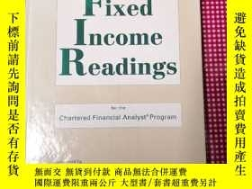 二手書博民逛書店Fixed罕見Income Readings for the Charactered Financial Anal