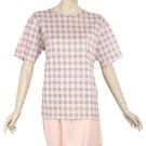 BURBERRY經典格紋全套短袖女居家服(淺粉色)085551-1/085552-1