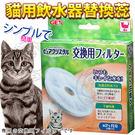 【zoo寵物商城】 日本GEX》貓用淨水飲水器替換蕊(1盒2入)活性碳圓形濾芯濾棉(犬/貓可共用)