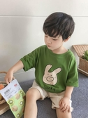 男童短袖t恤 夏季洋氣2020新款兒童他恤 男孩半袖棉質寬鬆卡通小童