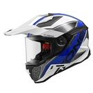 【東門城】ASTONE MX800 BF7 (白/藍) 全罩式安全帽 多功能 快拆式帽舌