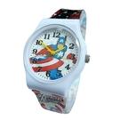 【漫威】MARVEL 美國隊長膠帶兒童錶卡通錶(白)