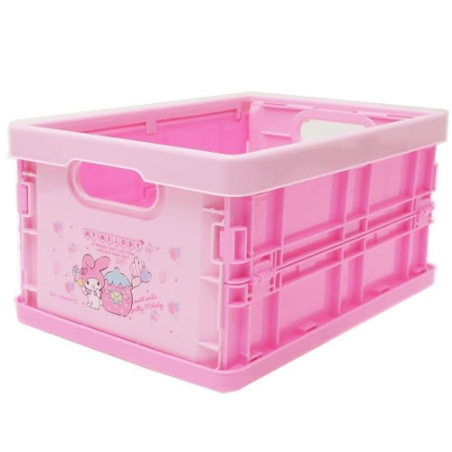 Sanrio 美樂蒂可折式PP收納箱S(草莓遊園地)★funbox★_46863