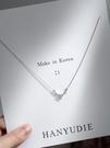 項? 鹿項?女純銀潮韓版個性簡約小眾設計鎖骨鏈氣質INS【快速出貨】
