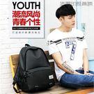 雙肩包男充電旅行包休閒電腦包【洛麗的雜貨鋪】