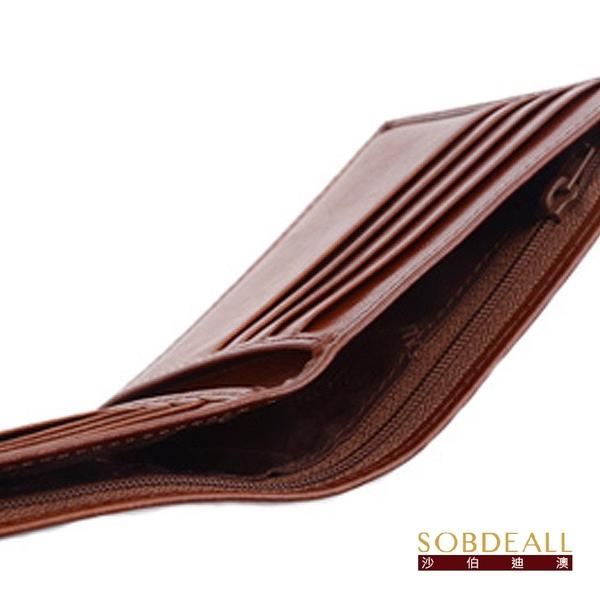 SOBDEALL 沙伯迪澳 真皮11卡透明窗男用短夾(附活動式卡夾) 20401000602