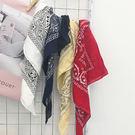 印花棉麻領巾髮帶-4色【HA395】Minuet