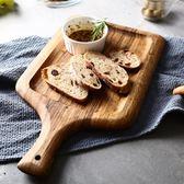 春季上新 菜板 北歐斑馬木拍照擺盤托盤 無漆實木熟食砧板披薩盤烘焙面包板