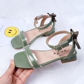 兒童涼鞋 女童涼鞋新款高跟公主鞋時尚小女孩軟底網紅鞋中大童寶寶鞋子